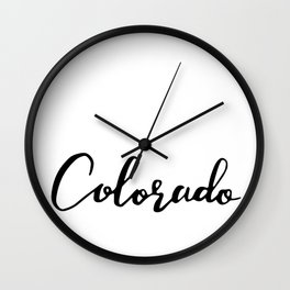 Colorado (CO; Colo.) Wall Clock