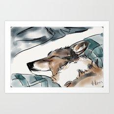 Charles Blue Art Print