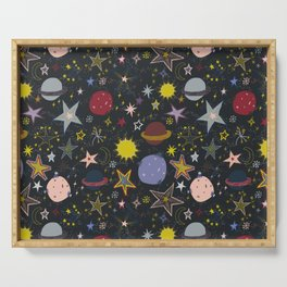 look up, the stars! Serving Tray