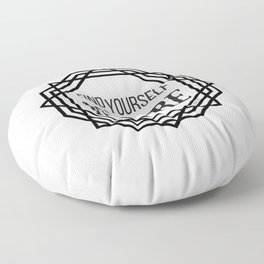 Find Yourself In Nature - Logo Floor Pillow