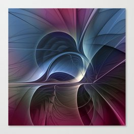 Fractal Mysterious, Colorful Abstract Art Canvas Print