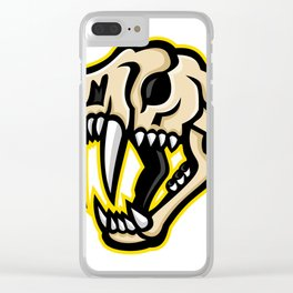 Saber-toothed Cat Skull Mascot Clear iPhone Case
