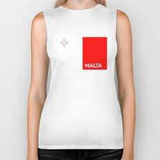 Malta country flag name text Biker Tank