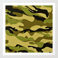 army Art Prints featuring ARMY by Sophie