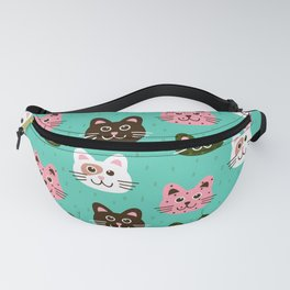 Cute and Adorable Cats Kittens Pattern Fanny Pack