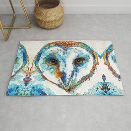 Colorful Barn Owl Art - Birds by Sharon Cummings Rug
