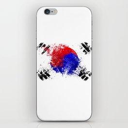 Flag brush iPhone Skin