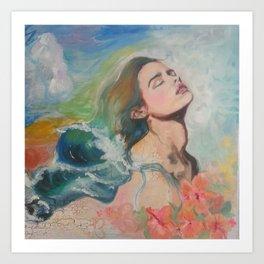 Hair like Waves Art Print