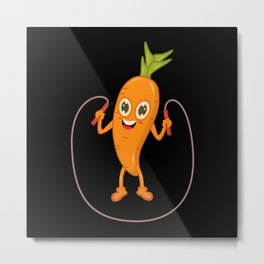 Carrot Sport Fitness Metal Print