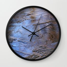 Abstract Ice Wall Clock
