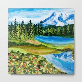 Mt. Rainier Reflections Lake Metal Print