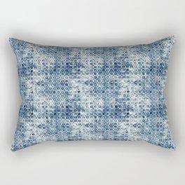 Grungy Teal Circles Rectangular Pillow