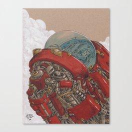 Red Ship Rising Canvas Print