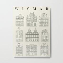 Wismar Fassaden Metal Print