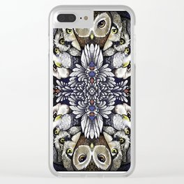 Owl Deck: Card Back Clear iPhone Case