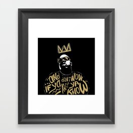 Brooklyn's King Framed Art Print