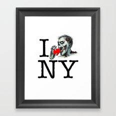 I Zombie Apocalypse New York Framed Art Print