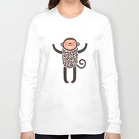 monkey island Long Sleeve T-shirts featuring Monkey by Anna Alekseeva kostolom3000