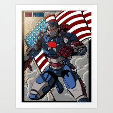 Iron Patriot Art Print