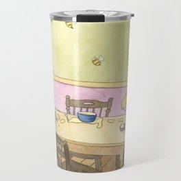 Goldilocks Sampling the Porridge Travel Mug