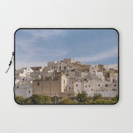Panoramic view of the medieval white village of Ostuni Laptop Sleeve