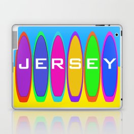 Jersey Surfboards on the Beach Laptop & iPad Skin