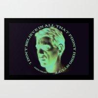 steve mcqueen Art Prints featuring Steve McQueen by RSassi
