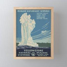 Vintage American WPA Poster - Yellowstone National Park (1938) Framed Mini Art Print