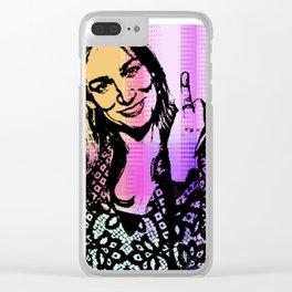 Nicole da Silva as Charlie Knight Clear iPhone Case
