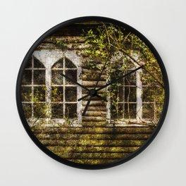 Overgrown Windows Wall Clock
