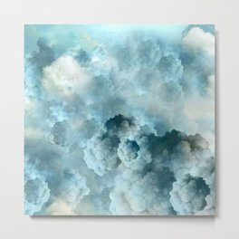 """Cotton clouds blue Heaven"" Metal Print"