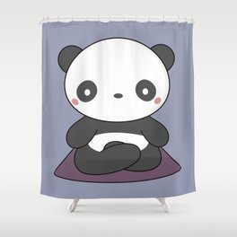 Kawaii Cute Yoga Panda Shower Curtain