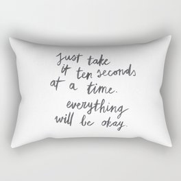 Ten Seconds At A Time Rectangular Pillow