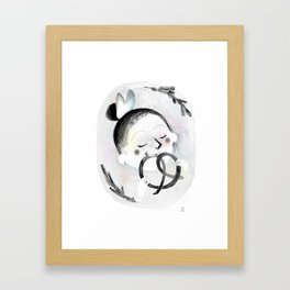 Pretzel Framed Art Print