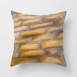 Medieval Cobblestones Throw Pillow