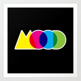 Mood Meme Colorful Geometric Typography Art Print
