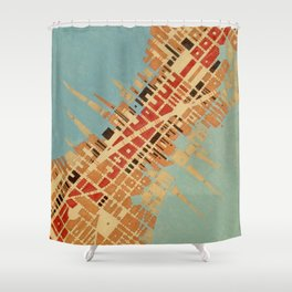 Cypher number 7 (ORIGINAL SOLD). Shower Curtain