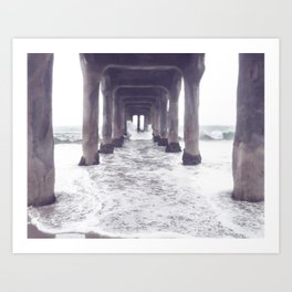 dreaming at the pier Art Print
