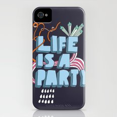 Life is a party iPhone (4, 4s) Slim Case