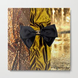 COCO GLAMOUR AND VINTAGE : BOW Metal Print