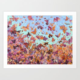 Monarch Migration Art Print
