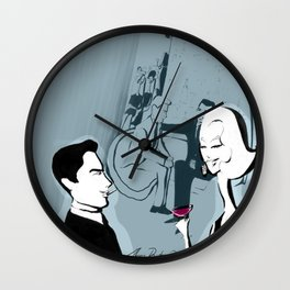 Jet  Set Cocktail Wall Clock