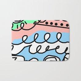 Crashing Wave - Black White Green Blue Bath Mat