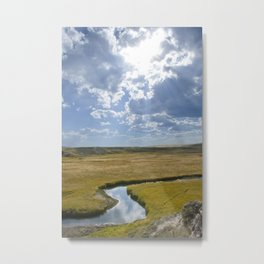 Rays On The River Metal Print