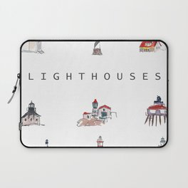 Collection of Lighthouses around the World Laptop Sleeve