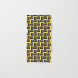 Plus Five Volts - Geometric Repeat Pattern Hand & Bath Towel