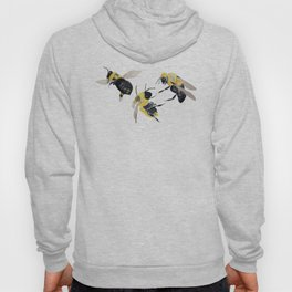 Water colour bees Hoody