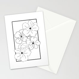 Flower Rectangle Stationery Cards