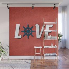 Love nautical design Wall Mural