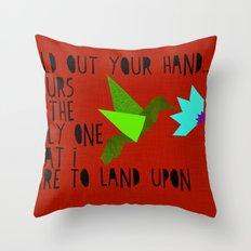 Hummingbird - The Weepies Lyrics Throw Pillow